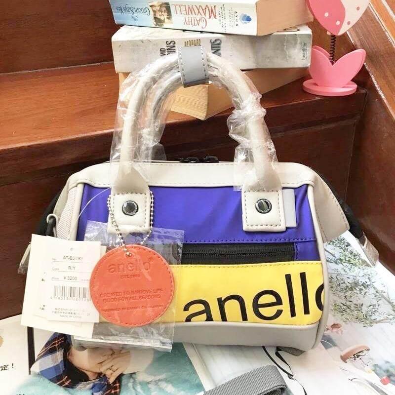 สินเชื่อบุคคลซิตี้  พังงา ANELLO 90'S Mouthpiece 2 way Mini Shoulder Bag กระเป๋าสะพายข้างสีสันสดใส ขนาดกะทัดรัด (ของแท้ 100%)