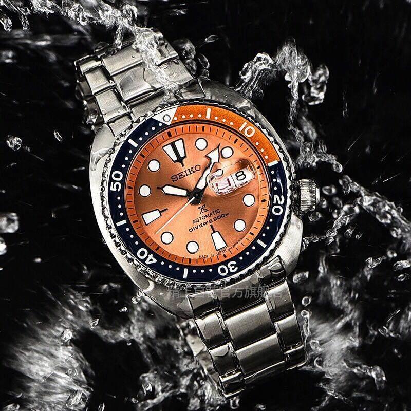 การใช้งาน  นครศรีธรรมราช Seiko Prospex Orange Turtle Limited Edition นาฬิกาข้อมือชาย รุ่น SRPC95K1 สายสแตนเลส