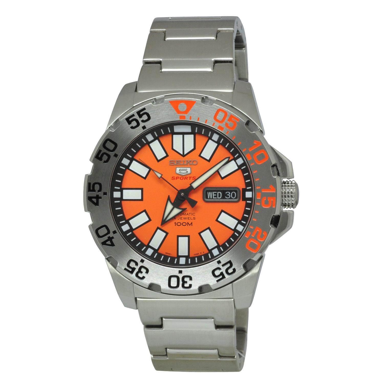 ยี่ห้อไหนดี  น่าน Seiko 5 Sports นาฬิกาข้อมือชาย Automatic SRP483K1 (Silver)
