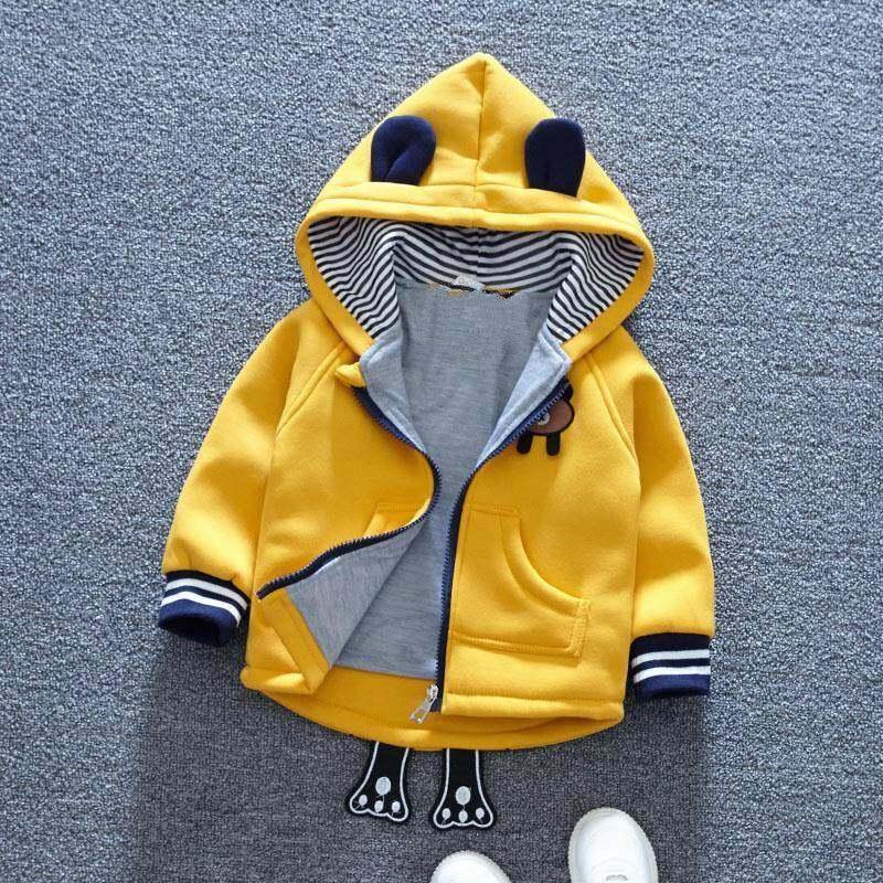 [พร้อมส่ง] เสื้อกันหนาวแจ็คเก็ตหมี