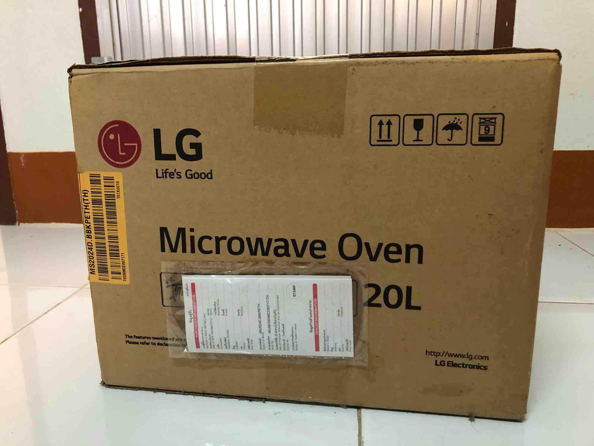 Microwave อุ่นอาหาร ยี่ห้อ LG รุ่น MS2024D