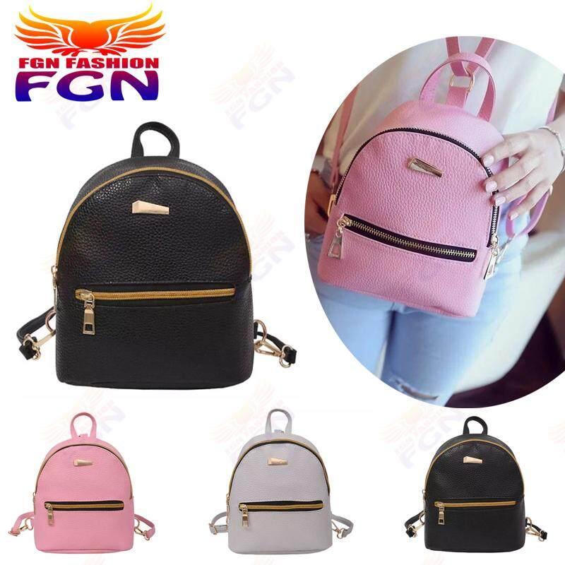 ปราจีนบุรี FGN แบบรุ่นใหม่ Backpack กระเป๋าเป้ วัยรุ่น กระเป๋า Fashion Bag เบ็ดตเล็ด(สีดำ)FGN 082
