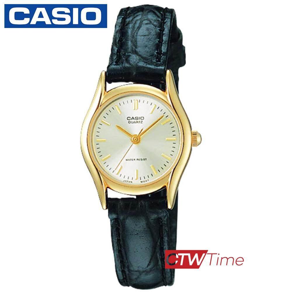 Casio นาฬิกาข้อมือผู้หญิง สายหนังแท้ รุ่น LTP-1094Q
