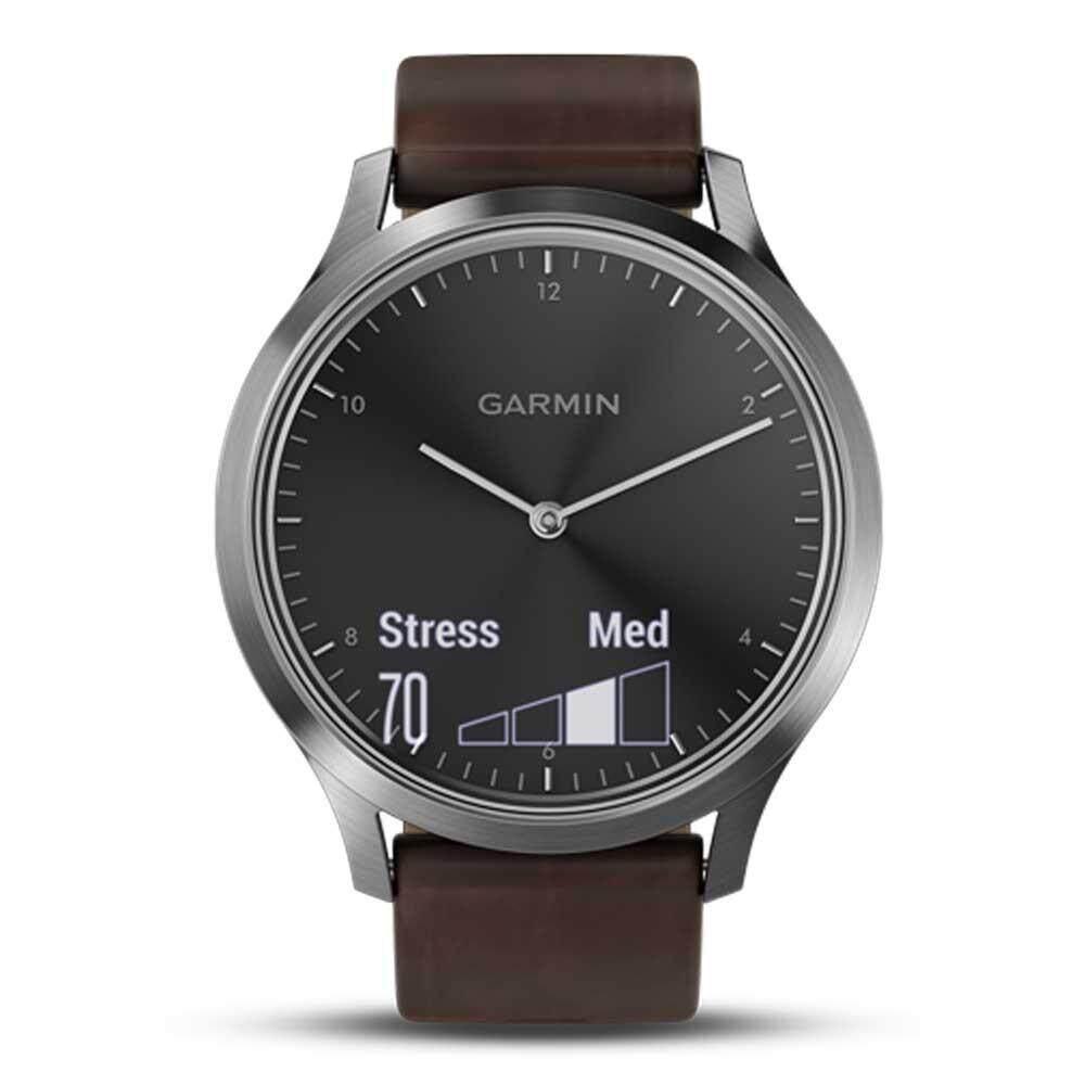 พระนครศรีอยุธยา Garmin Vivomove HR GM-010-01850-94 Smart Digital Brown Leather Unisex Smartwatch