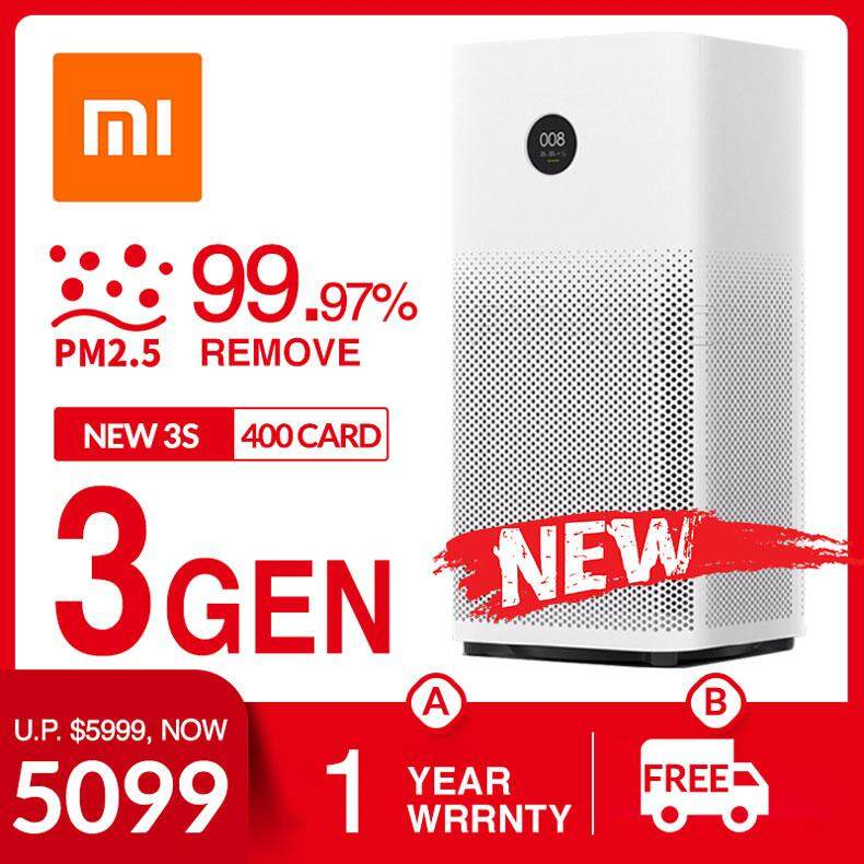 ยี่ห้อไหนดี  ยโสธร Xiaomi Mijia Air Purifier 3 Air Conditioner 99.97% PM2.5 Remove Circulator Fan HEPA Filter 400CARD 48SQM Active Charcoal Fibre HEPA Filter