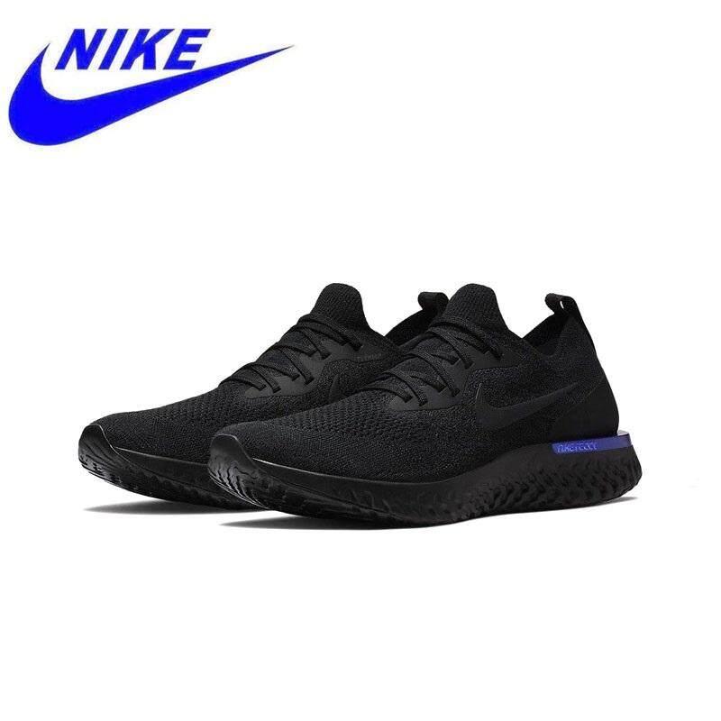 การใช้งาน  บึงกาฬ สินค้าใหม่มาใหม่แท้ Nike Epic React Flyknit รองเท้าวิ่งรองเท้าผ้าใบกีฬากลางแจ้ง Breathable ดี AQ0067-100