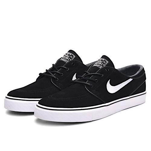 ยี่ห้อนี้ดีไหม  นครสวรรค์ Nike รองเท้าลำลองชาย ฟิตเนส Zoom Janoski OG แท้ สี Black/White