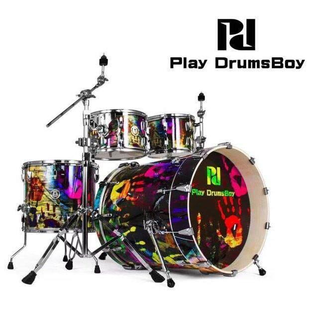 ลดสุดๆ (ส่งฟรีKerry) กลองชุดใหญ่ แบรนด์ดัง Korea พร้อมอุปกรณ์ครบ(ตามรูป) แถมฟรีเก้าอี้กลอง เอกลักษณ์เฉพาะตัว กระเดื่องลึก Play Drums Boy Playboy Series สี Graffiti Art กลองชุด 5 ใบ ดีไซด์สวย คุณภาพเกิ