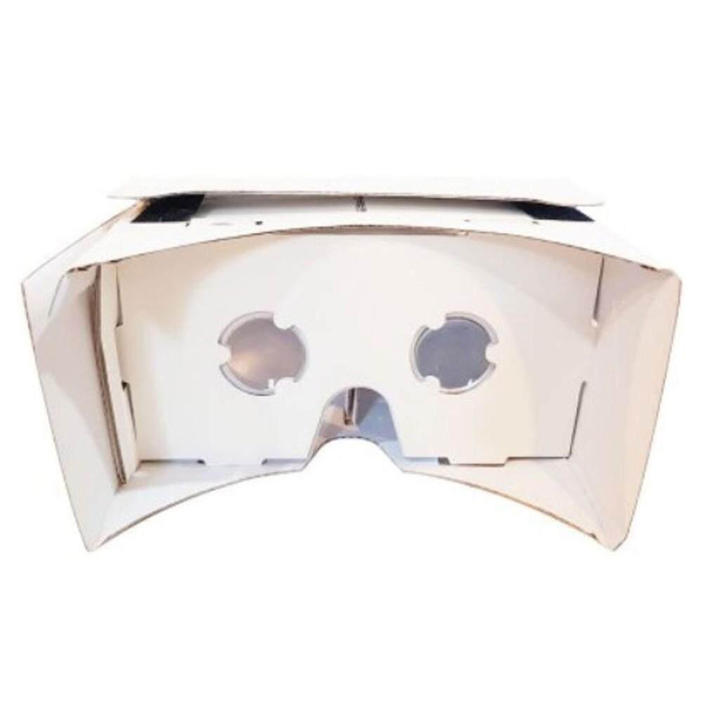 """เก็บเงินปลายทางได้ """"ส่งฟรี KERRY""""แว่น VR google cardboard white 3 มิติ 360 องศา ios android 4.1-5.7 นิ้ว"""