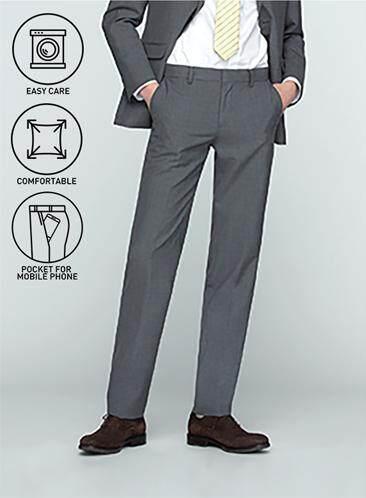 โปรโมชั่น GQWhite  ชัยนาท GQSize กางเกงขายาว - GQ  Slacks  Long Panst TR Fabric Solid  130-810770  Gray