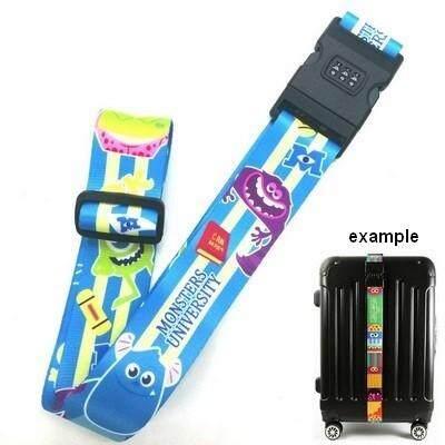 สุดยอดสินค้า!! ส่งฟรี kerry !!! ขาย Luggage Belt สายรัดกระเป๋าเดินทาง สายคาด สายล็อค มีรหัสล็อคบนสาย มอนสเตอร์ อิงค์ Monsters Inc. สีฟ้า