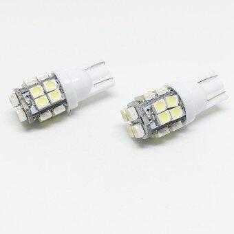 (ซื้อ 1 คู่ แถม 1 คู่) ไฟหรี่ LED ขั้ว T10 5 ทิศ SMD 20 เม็ดแสงสีขาว (image 4)