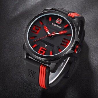 2561 รับประกัน 1 ปี - NAVIFORCE นาฬิกาผู้ชาย สายซิลิโคน เครื่องญี่ปุ่น บอกวันที่