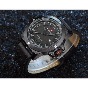 2561 รับประกัน 1 ปี นาฬิกาข้อมือ NAVIFORCE รุ่น NF9077 สายหนัง ระบบQuartz กันน้ำ