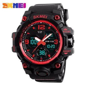 นาฬิกาข้อมือผู้ชาย (ของแท้ 100% พร้อมกล่องครบเซ็ท) ดิจิตอล มัลติฟังชั่น สายเรซิน รุ่น ดิจิตอล - 1155B (Black/Red)