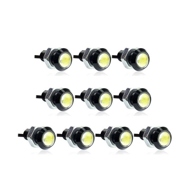 10pcs Car Eagle Eye LED Daytime Running DRL Tail Backup Light 3W White .