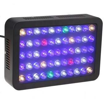 165W 55 LEDs Aquarium Light Dimmable Full Spectrum for Reef Fish Coral Tank Freshwater Saltwater Lighting Blue and White - intl