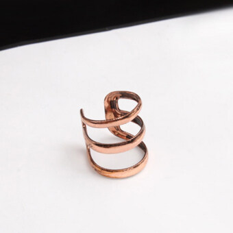 1pc Womens New Punk Rock Ear Clip Cuff Wrap Earring No Piercing-Clip On Cinnamon