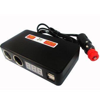 ช่องเสียบที่จุดบุหรี่ 2 Socket 2 USB3.1Aพร้อมโวลต์มิเตอร์วัดคุณภาพไฟและแบตเตอรี่ (image 2)