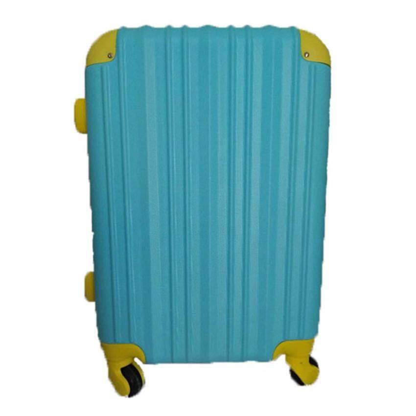 กระเป๋าเดินทางล้อลาก 20 นิ้ว รุ่นBA20-08 สีฟ้าขอบเหลือง(BLUE+YELLOW) ABS+PC LUGGAGE