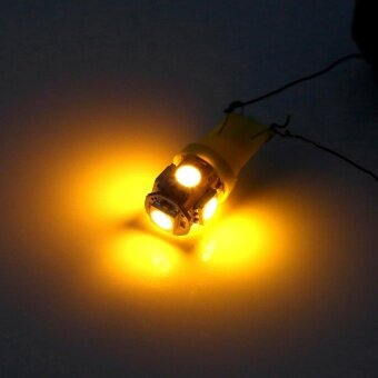 20 pcs 12V T10 5050 5 SMD Car Wedge Light Super Bright Amber - intl