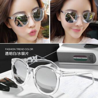 แว่นตากันแดด ทรงกลม กันแสงยูวี สไตล์เกาหลี 2017