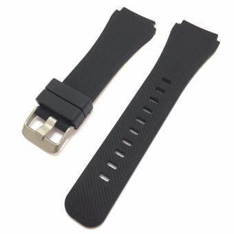 สายนาฬิกา ซิลิโคน สีดำ ขนาด 22 มม. NT Watch Shop SL3 Silicone watch strap 22 mm. - Black