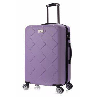 กระเป๋าเดินทางล้อลาก แบรนด์เกาหลี 24 นิ้ว ลายแบบแท่ง สีม่วงมุก Famouse Korea Luggage Brand+Prismatic Shape+24 Inch+PURPLE PEARL Color