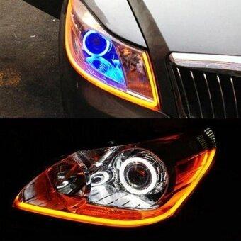 2pcs 60CM DRL Flexible LED Tube Strip Daytime Running Lights TurnSignal Angel Eyes .