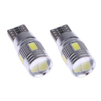 ซื้อ 2pcs Car Lights Canbus T10 5630 6SMD Decoding W5W Show Wide Lights- intl