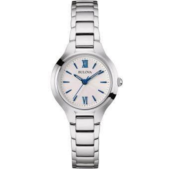 นาฬิกาผู้หญิง แสตนเลส สีเงิน กันน้ำ 30 เมตร Bulova 96L215