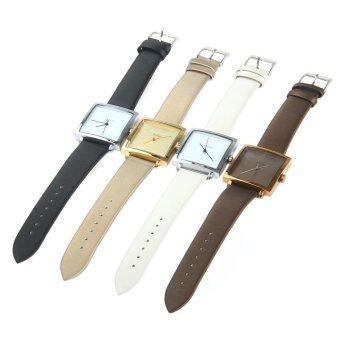 จูเลียสจ๋า-354 สแควร์ควอทซ์หน้าปัดนาฬิกาหนังเพศปกติโกลเด้น (image 3)