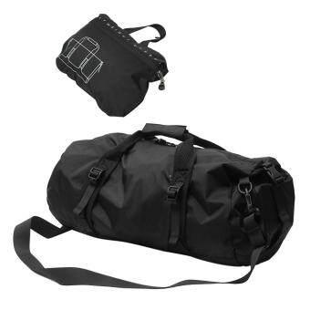 360DSC พับอุปกรณ์กีฬากันน้ำเป้เดินทางยิมกระเป๋ากีฬาไลท์-สีดำ L/