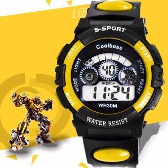 นาฬิกาข้อมือผู้ชาย-ผู้หญิงและเด็ก สายยางขาว ระบบ นาฬิกาข้อมือดิจิตอล(เล็ก) 37.5MM