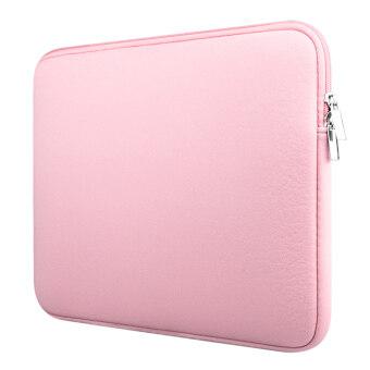 กระเป๋าโน้ตบุ๊คกระเป๋าถือปลอกฉนวนป้องกันสำหรับยูนิเวอร์แซล39.62ซมโน๊ตบุ๊คสีชมพู