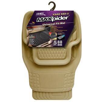3D Maxpider ถาดรองพื้นฟรีไซต์ Universal Fit - Beige/สีครีม(1 ชุดมี 5 ชิ้น) ใส่ได้กับรถทุกรุ่น