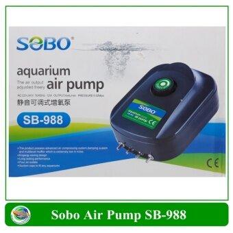 ปั๊มออกซิเจน 4 ทาง ปรับแรงลมได้ ขนาด12 W รุ่น SB-988
