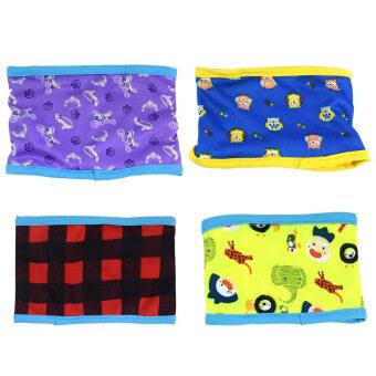 เปรียบเทียบราคา 4 PCS Male Dog Washable Reusable Sanitary Belly Band Toilet DiaperWrap Pants Random Style Size M