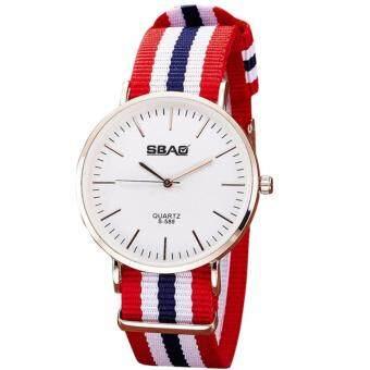 ราคา นาฬิกาข้อมือแฟชั่น 40 มม. กันน้ำ สายไนล่อน Fashion Quartz Watch