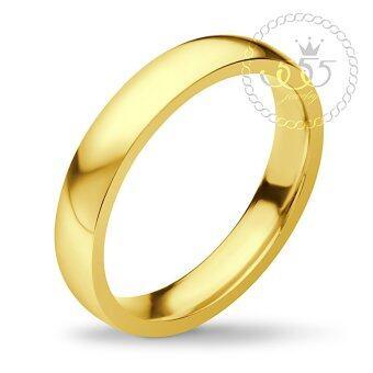 555jewelry แหวน สแตนเลสสตีล - แหวนเกลี้ยง แหวนปลอกมีด ดีไซน์เรียบ รุ่น FSR116-B (สี Yellow Gold)