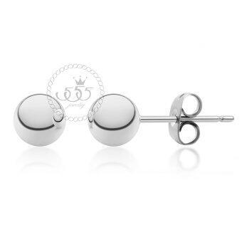 555jewelry ต่างหู รุ่น MNC-ER340 -A (Steel) (ER66)