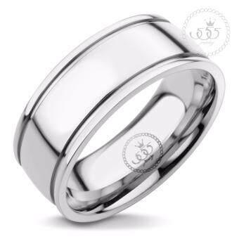 555jewelry แหวนดีไซน์เรียบ สี สตีลเงิน รุ่น MNC-R724-A - แหวนเรียบ แหวนผู้ชาย สแตนเลสสตีล