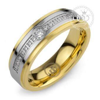 555jewelry แหวน รุ่น MNR-033T-E (Yellow Gold)
