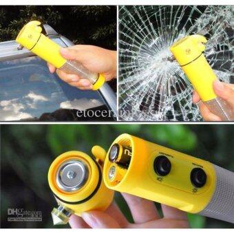 ลดราคา ไฟฉายทุบกระจกมีมีดในตัว 6in1 LED FLASHLIGHT FOR AUTO-USED