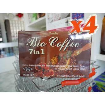 กิฟฟารีน ไบโอ คอฟฟี่ 7 อิน 1 กาแฟปรุงสำเร็จชนิดผงผสมเห็ดหลินจือสกัด ฯลฯ 20.00 ซอง x 4 กล่อง (ช่วยให้ผิวขาวเนียนใส)Giffarine Bio Coffee 7 in 1 Instant Coffee Powder With ReishiMushroom Extract etc. 1.7g.x 20 Sachets 4 boxes