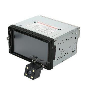 17.78ซมสากล 2 din ฝาเครื่องเสียงรถยนต์บลูทูธ DVD ซีดีทีวีวิทยุ fm และอินพุต USB/TF สื่อบันเทิงรองด้วยกล้องมองหลังระบบ hd