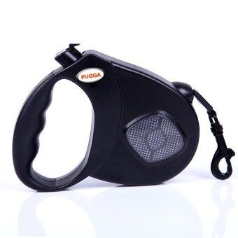 8M Luminous Retractable Pet Leash for 40kg Large Dogs Round Rope - L + Free Pet Step-in Harness (Black) - Intl
