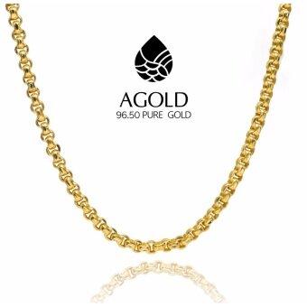 สร้อยคอทองคำแท้ 96.50% น้ำหนัก 2 บาท (30.4กรัม) ลายหวายลูกคิด