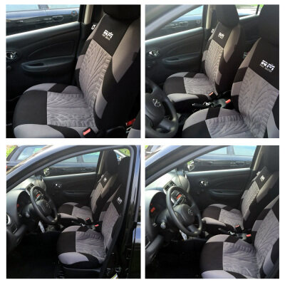 9PCS Universal Car Seat Cover Fit Most Cars with Tire Track Detail Car Styling Car Seat Protector