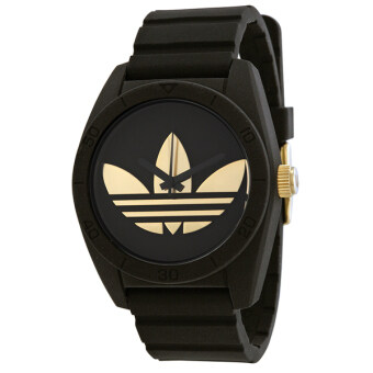 Adidas Originals นาฬิกาข้อมือ Santiago Watch ADH2912 (Black/ Gold)